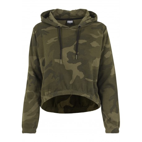 Camouflage Cropped Hoody