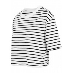 Short Striped Oversized Tee