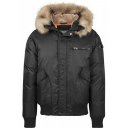 Heavy Fake Fur Bomber Jacket
